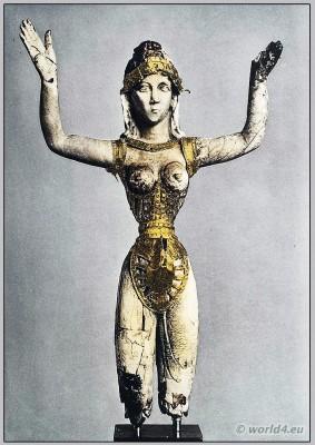 Ancient, Minoan, costume, Knossos, Greek,