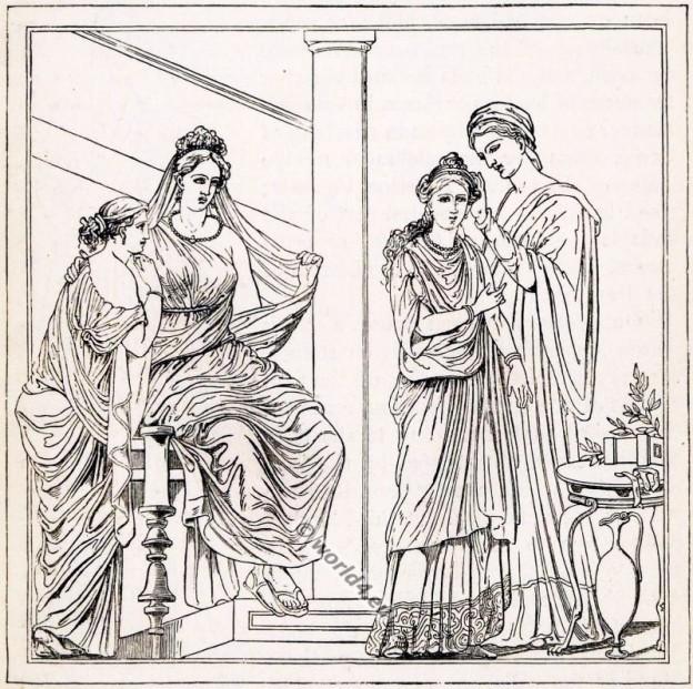 roman, bride, costume, clothing