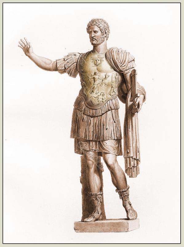 Hadrian, Antique, Statue, Roman, emperor,