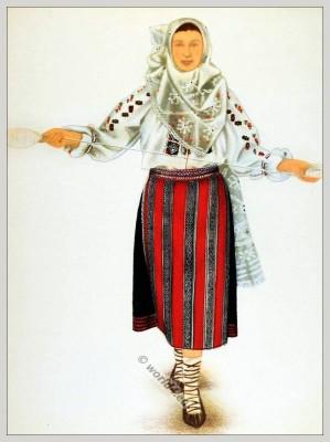 Romanian National Costumes Transylvania