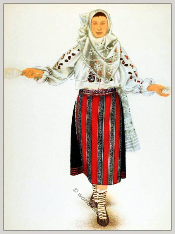 Romania, National, Costumes, Bran, Transylvania