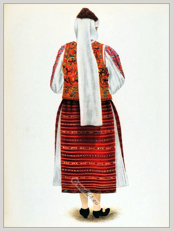 Alte Tracht aus Eisenstadt in Siebenbürgen, Rumänien.