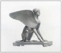 The figure of a Sphinx. Ancient Greek sculpture