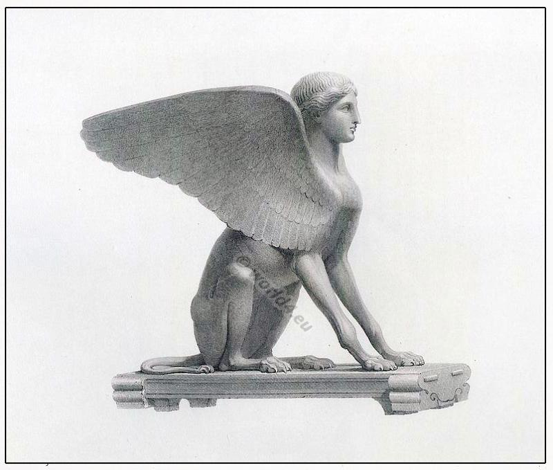 Sphinx, Ancient, Greek, mythology, Fantasy, figur,