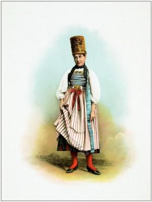 Hallauer bride. Wedding dress. Switzerland national costumes. Suisse costumes nationaux.