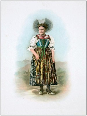 princely land, Suisse costumes nationaux. Costumes suisses. Switzerland national costumes.