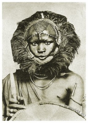 Masai warrior, lion headdress, Traditional, Kenya, dress, Tanzania, clothing, Africa, tribe, costume,