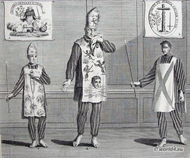 Spain Inquisition costumes ideas. catholic clothing. Criminal Habits dresses