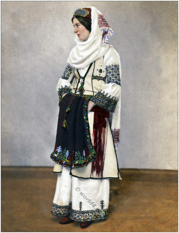 Traditional Albanian woman costume