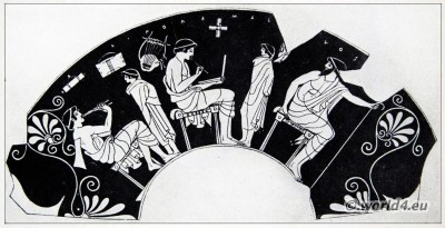 Ancient, Greece, Greek, Music Instruments, Kylix,