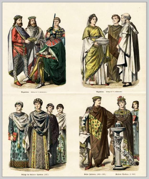 Emperor Justinian, Medieval, Byzantine, costumes, nobles, Empress, Theodora,