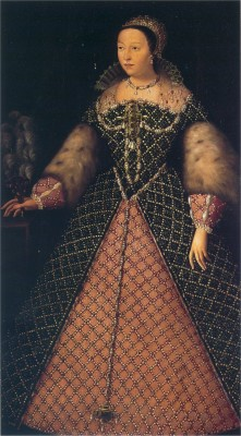 Catherine de Medici Queen of France. Renaissance costumes.