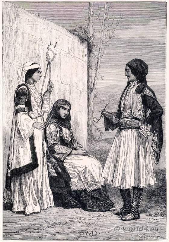 Fustanella, Greek, Greece, costumes