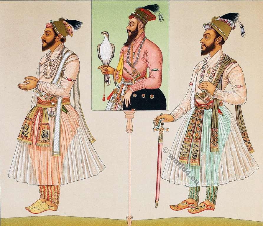 Moghul, Emperor,Shah Alam, Costumes,Auguste Razinet,