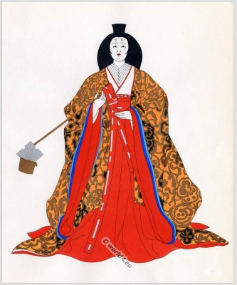 court, Servant, Japan, costumes, Traditional, dress,