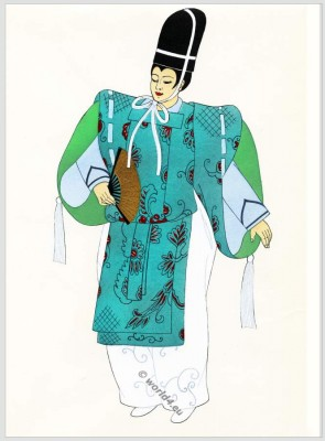 court, Japan, costumes, Traditional, dress,