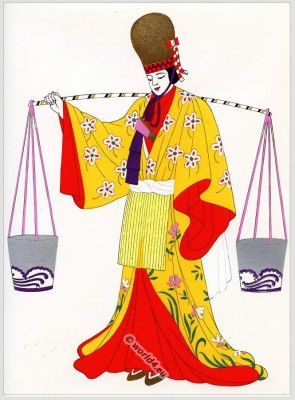 Water carrier, Japan, costumes, Traditional, dress,