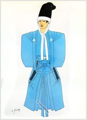 Dancer, Nō Theater, Bougakou, Bunraku, Japan, costumes, Traditional, dress,