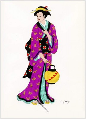 Japan, costumes, Traditional, dress,