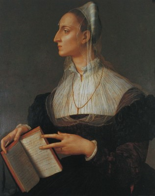 Laura Battiferri. Italian poet. Cinquecento fashion. Renaissance costumes