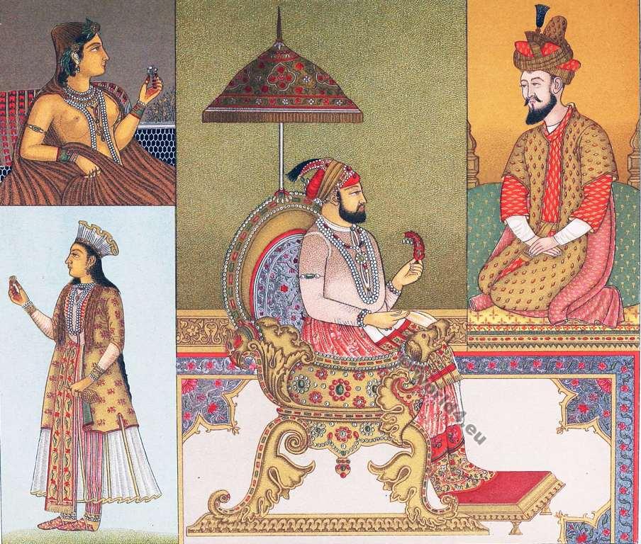 Moghul, Emperor, Farrukhsiyar, Babur, Costumes, Auguste Razinet