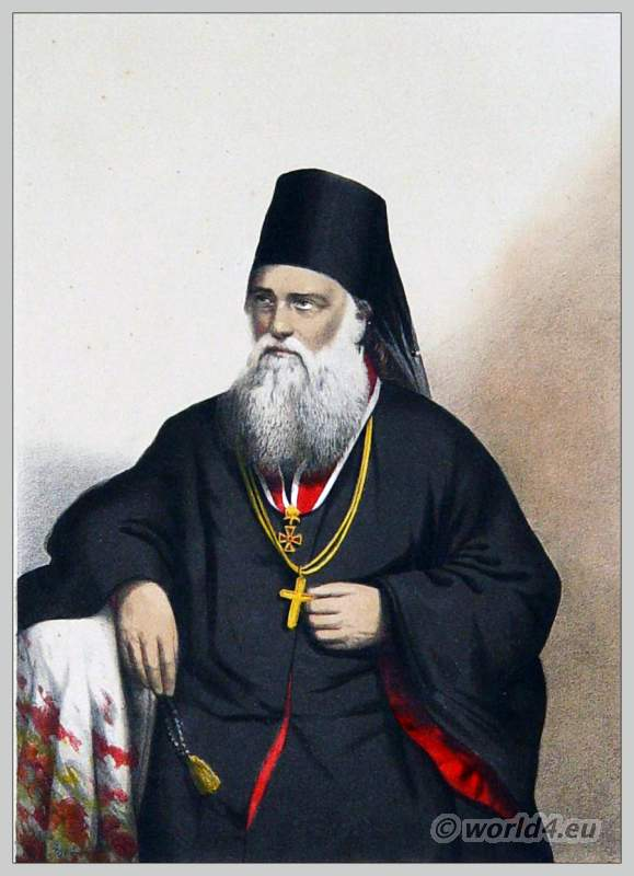 Greek, Orthodox, Bishop, costume, Kamilavkion, Talar, Rhason, Metropolitan,