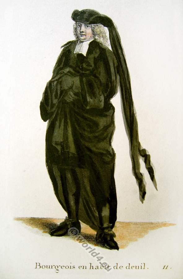 Schweizer Barock Kostüm, Trauerkleidung