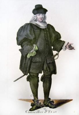 Swiss bourgeois 17th century clothing. Switzerland Baroque costume recherche