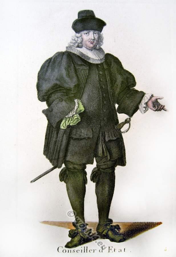 Altes Schweizer Barock Kostüm eines bürgerlichen Ratsmitgliedes.