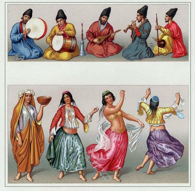 Motrebs, Persia, dancer, musicians, iran,