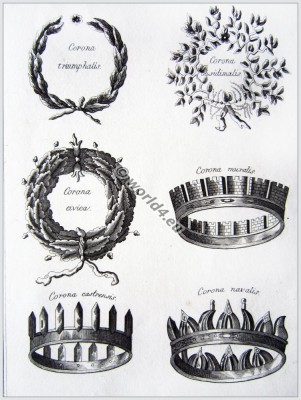 roman fashion history, ancient, rom, crowns, wreaths