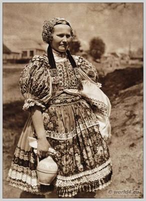 Ábelová, Slovakia, Peasant, national costume, folk, dress,