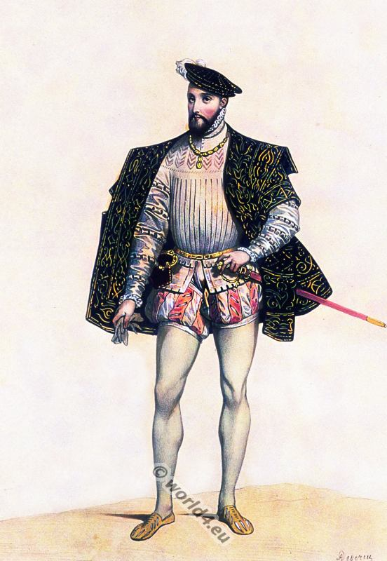 16th century costume. Henry II. King of of France