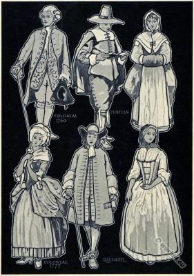 American, colonial, costumes, Puritan, Quaker
