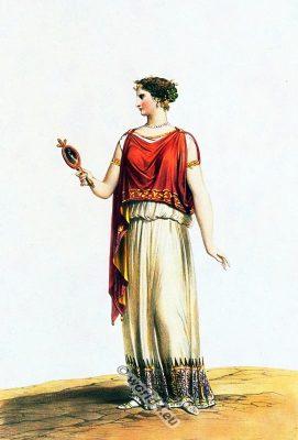 Greek, chiton, costume,