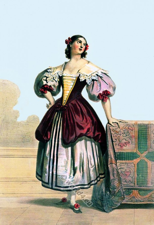 Flamande costume femme XVII Siecle