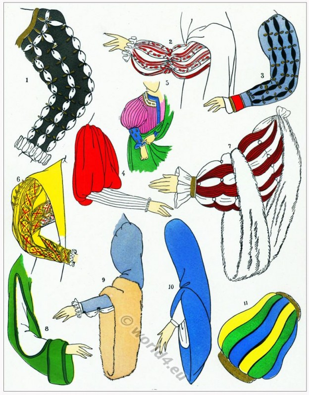Manches, modes, renaissance, Costume, féminin, français,