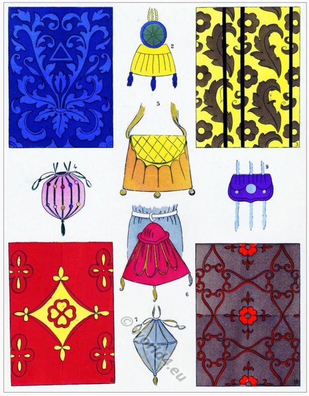 Étoffes, modes, renaissance, Costume, féminin, français,