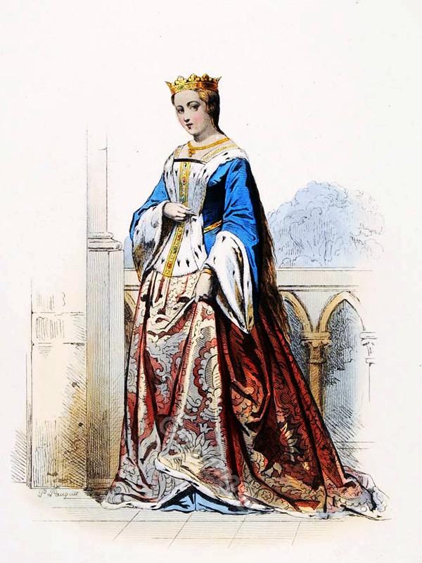 Princesse, Anne De Bretagne, costume, modes, medieval