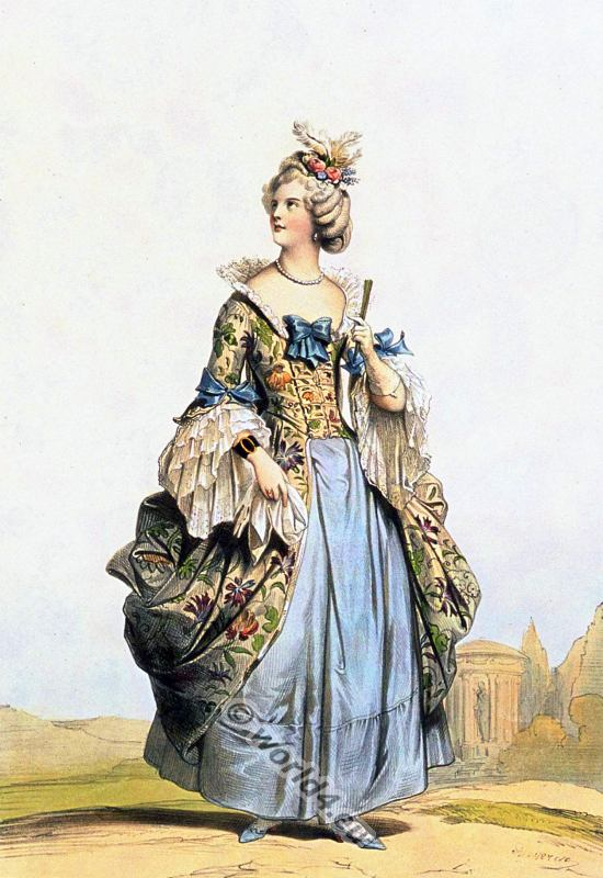 Court, dress, rococo, france, Louis XVI