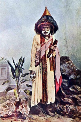 National costumes of India. Wasudev Beggar. India Jaggi Vasudev. Traditional Hindu clothing