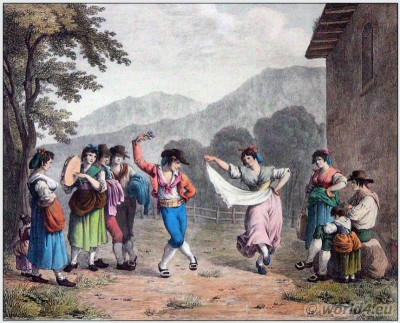 Tarantella, Italia, Italian folk dance, Italy, traditional, national, costume