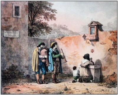 Bartolomeo Pinelli. Italian Shepherds clothing. Italian national costume