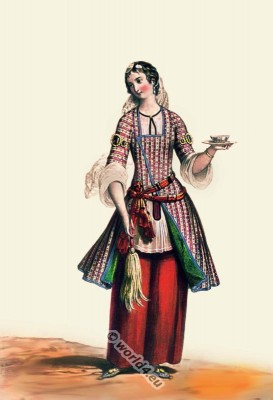Persia, 19th century, Iran, historic,clothing,traditional,oriental,costume,dress,