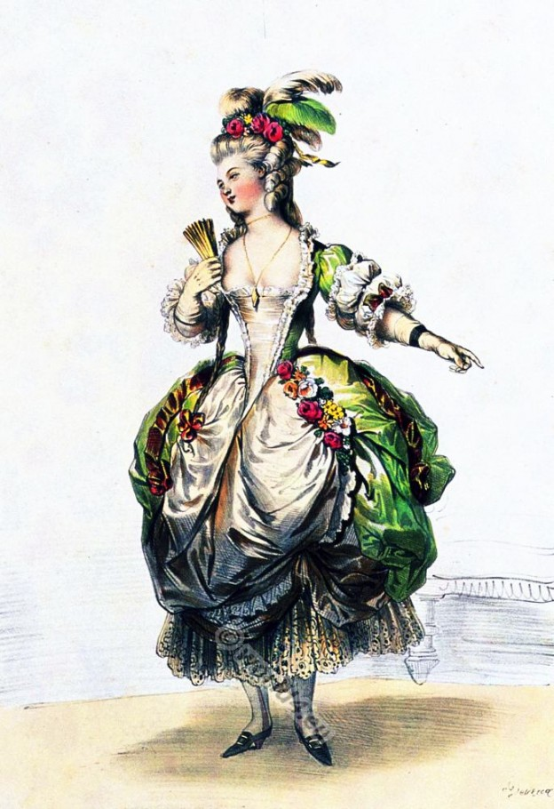 Court dress. Baroque fashion. 18th century costumes. Fashion history. Costume design.