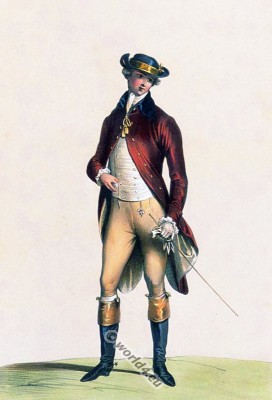 French rider habit. Rococo clothing. 18th century costume. Fashion ideas