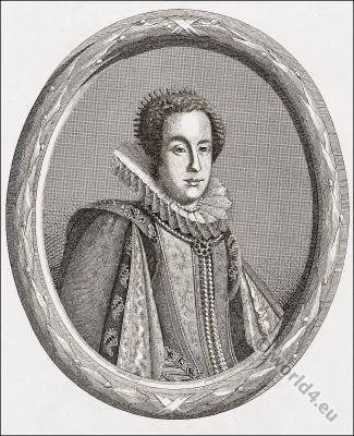 Claudia of Etruria. Claudia de' Medici, Baroque clothing Spanish fashion. Nobility court dress. барокко костюм