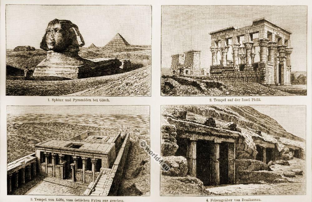 Ancient, Egypt, architecture, arts, Sphinx, pyramids, Philae