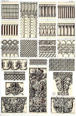 decoration, Ancient, Assyria, column, ornaments