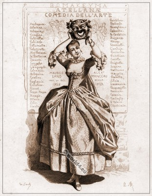Commedia dell'arte, Theater, Costume, Comédie, Masques, bouffons, Actors, comédie italienne,